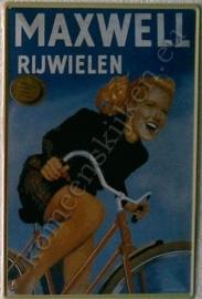 nostalgische wandplaat maxwell rijwielen 20-30 cm