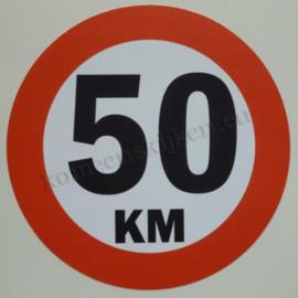sticker 50 km 14 cm
