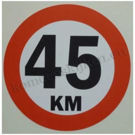 sticker 45 km 14 cm rond