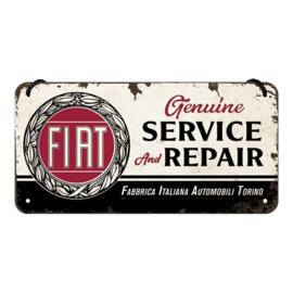 blikken wandplaat Fiat Service & Repair 10 x 20 cm