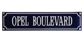 emaille straatnaambord opel boulevard