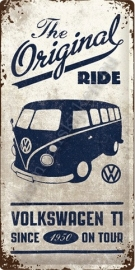 metalen wandbord VW original ride 25-50 cm