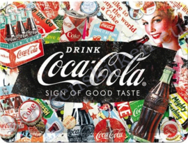 Tin-Sign  Coca Cola Collage NA26227 15-20 cm