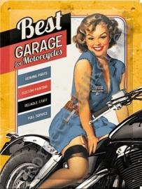 metalen wandbord best garage 15-20 cm