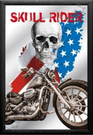 spiegel skull rider, harley davidson