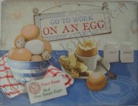 metalen wandplaat work on egg 30-40 cm