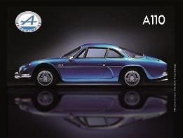 metalen wandplaat Renault Alpine A110 30x40 cm
