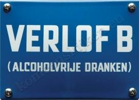emaille bord Verlof B