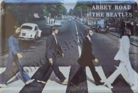 metalen reclamebord abby road, the beatles 20-30 cm