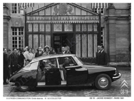 metalen reclamebord Citroën DS 19 Jackie Kennedy 15x21 cm