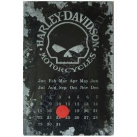 eeuwigdurende kalender harley davidson skull 20-30 cm.