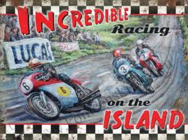 metalen wandplaat Racing on the island