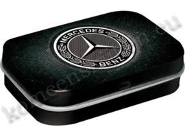 pepermuntdoosje met het logo van Mercedes / Black