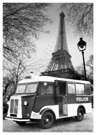 metalen wandplaat citroën HY camion  police 30-40 cm