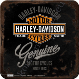 Metal Coaster Harley-Davidson Genuine