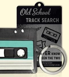 metalen sleutelhanger muziek cassettebandje
