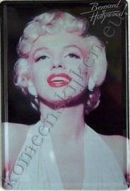 blikken bord Marilyn Monroe zwart / wit 20-30 cm