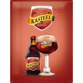 metalen reclamebord kasteel bier 30-40 cm
