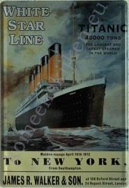 metalen wandplaat titanic 20-30 cm