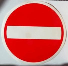 sticker verboden in te rijden 20 cm