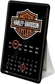 metalen buro kalender harley 10-14 cm