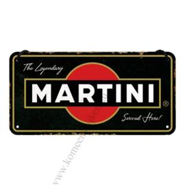 metalen deurbordje Martini serverd here 10x20 cm