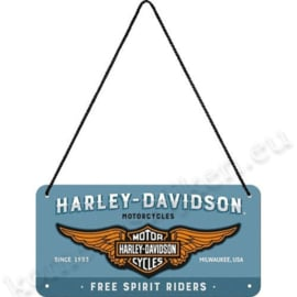 Hanging Sign harely davidson 10x20 cm
