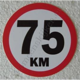 sticker 75 km 7,5 cm