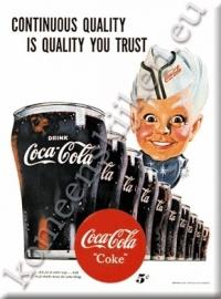 koelkastmagneet coca cola jongen wit
