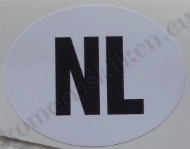 sticker ovaal NL 6,3 bij 4,9 cm
