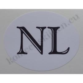 sticker ovaal NL klassiek 6,3 bij 4,9 cm