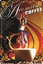 blikken muurbord Aromica coffee 20x30 cm