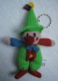 sleutelhanger Clown groen / stof