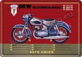 metalen ansichtkaart DKW 10-14 cm