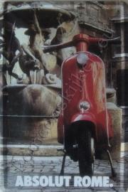 metalen reclamebord Vespa, absolut Rome 20-30 cm