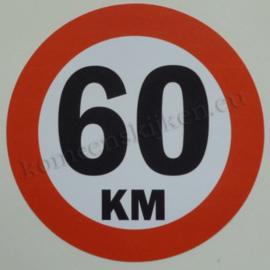 sticker 60 km 14 cm