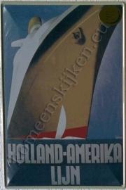 metalen ansichtkaart HAL boeg 10-14 cm