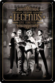 metalen reclamebord legends life forever 20x30 cm