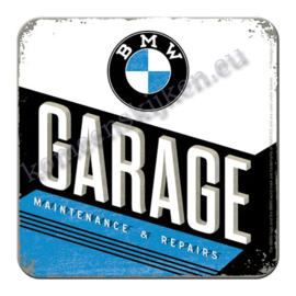 Metal coaster BMW Garage