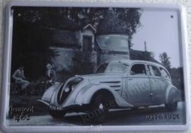 metalen reclamebord peugeot 402  15x21 cm