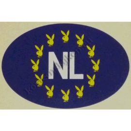 NL sticker playboy 12,5 bij 8,5 cm