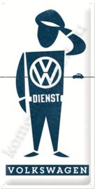 metalen reclamebord volkswagen dienst 25-50 CM
