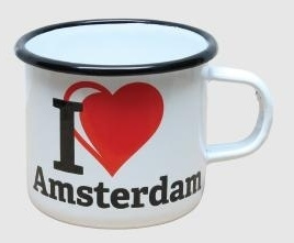 emaille mok i love amsterdam