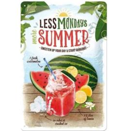 blikken muurbord less monday's more summer, watermelon 20x30 cm
