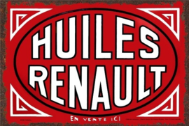 metalen wandplaat huiles Renault 15x20 cm