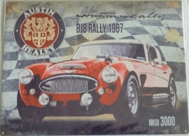 metalen wandplaat austin healey bj8 rally 30-40 cm