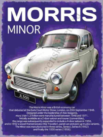 metalen wandplaat Morris Minor 30x40 cm