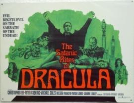metalen affiche The Satanic Rites of Dracula 30x40 cm