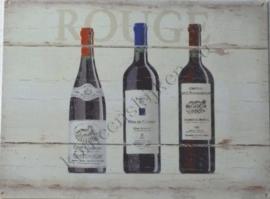 metalen wandbord vin rouge 30-40 cm