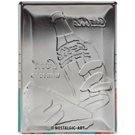 metalen wandbord Coca Cola good with food 30-40 CM